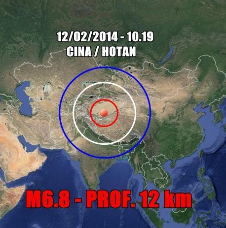 Terremoto fortissimo in Cina - 12 Febbraio 2014