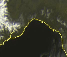 Splende il Sole su tutta la regione - scatto satellitare ore 12.00
