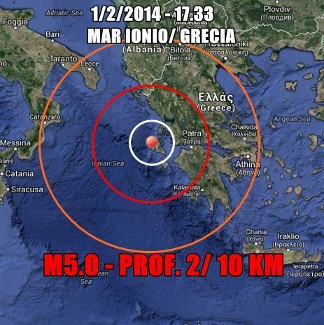 Forte terremoto in Grecia, avvertito lievemente al Sud Italia