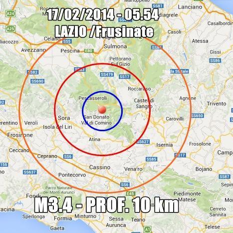 Terremoto avvertito fra Lazio e Abruzzo
