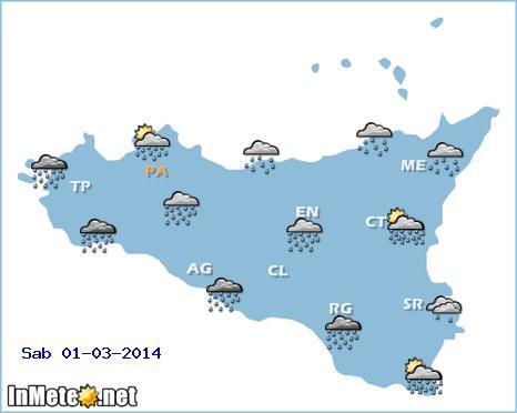 Meteo Sicilia: in arrivo piogge e temporali (previsioni Palermo, Messina, Catania e altre città)