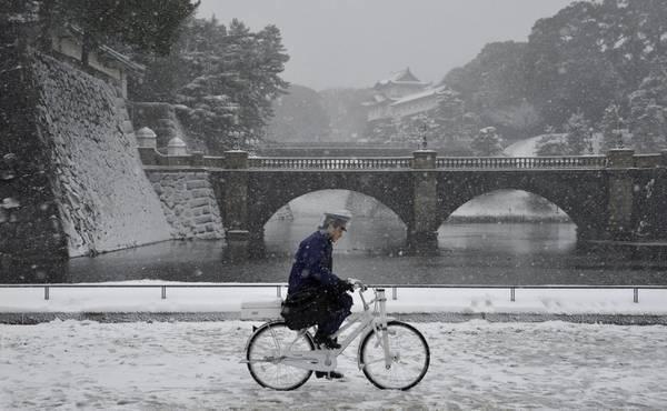 Forte nevicata su Tokyo