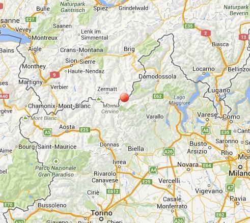 Terremoto Piemonte oggi 27 Febbraio 2014: scossa a Macugnaga