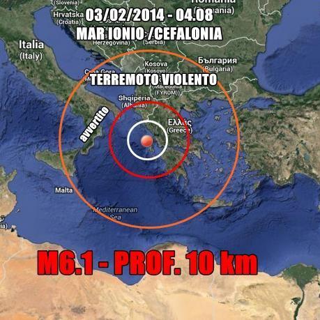 Terremoto in Grecia, trema il Sud