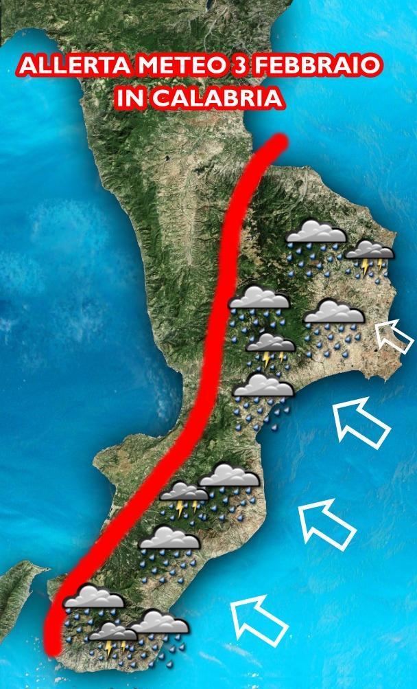 Nella grafica abbiamo evidenziato le forti precipitazioni attese per domani sulle aree orientali, ma la pioggia potrà cadere anche altrove