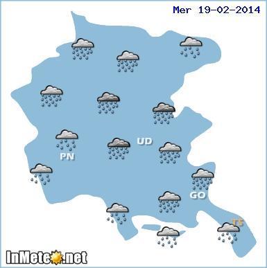 friuli venezia giulia: torna il maltempo con piogge e temporali Mercoledì