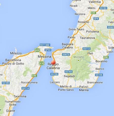Terremoti 9 Febbraio: sequenza sismica nello Stretto fra Messina e Reggio Calabria