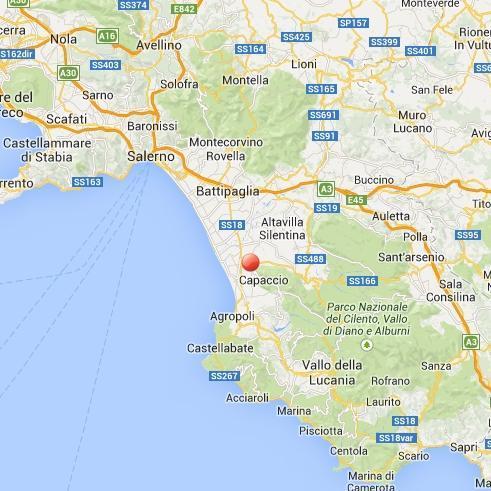 Terremoto in Campania, vicino Capaccio - oggi 17 Febbraio 2014