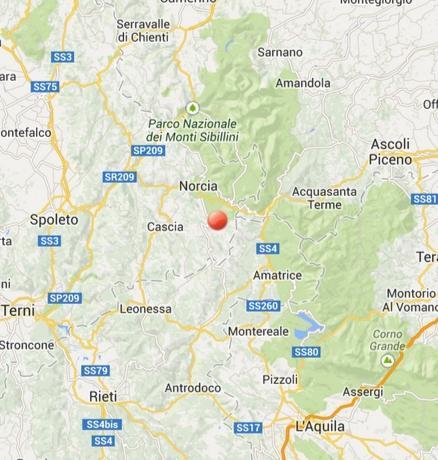 Terremoto Lazio, Umbria: scossa fra Cittareale e Norcia - oggi 13 Febbraio 2014