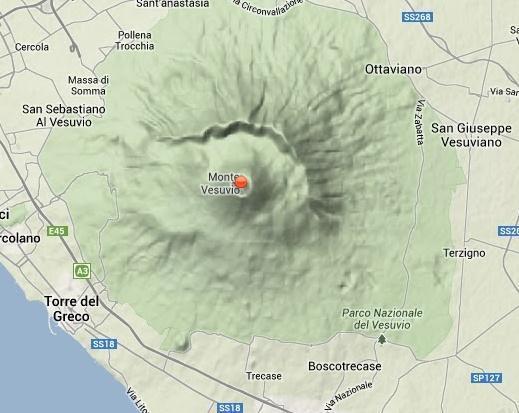 Terremoti Vesuvio: l'ultima scossa avvenuta sul Vulcano (90 m di profondità)