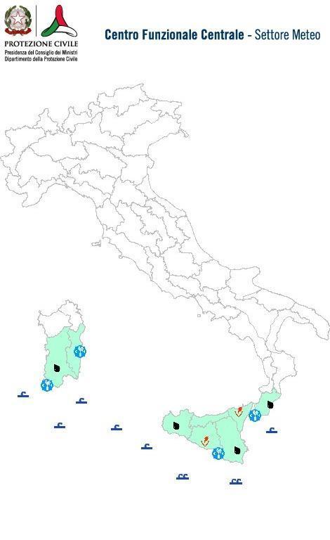 Previsioni meteo 14 Marzo 2014 Italia: Bollettino della Protezione Civile. Fonte: www.protezionecivile.gov.it