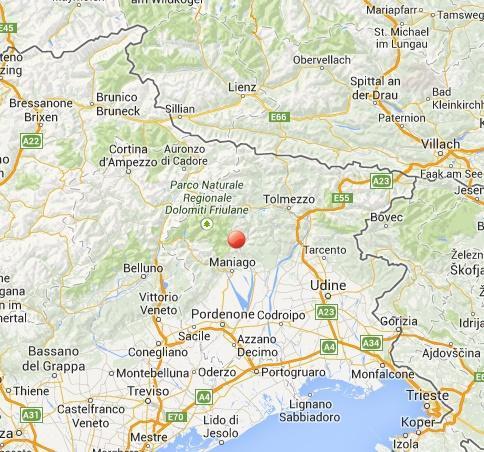 Terremoto Friuli Venezia Giulia oggi: scossa avvertita a Maniago