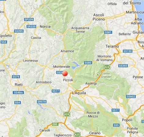 Terremoto oggi L'Aquila: scossa avvertita fra Pizzoli e Montereale