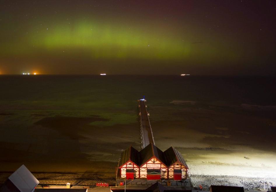 Aurora boreale in Inghilterra