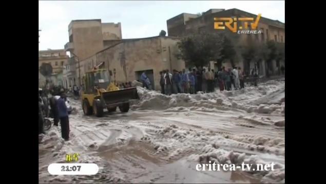 Apocalittica grandinata in Eritrea