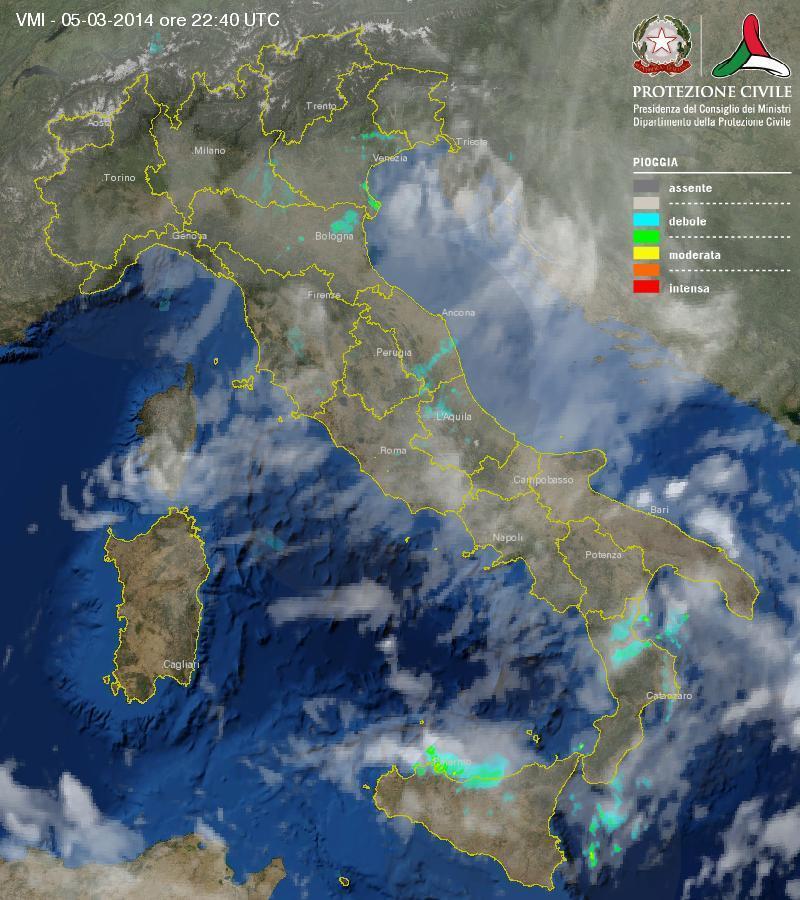 Nubifragio su Palermo: violento temporale con grandine - 6 Marzo 2014