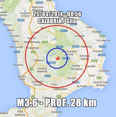 Terremoto calabria oggi scossa avvertita nettamente for Meteo san giovanni in fiore