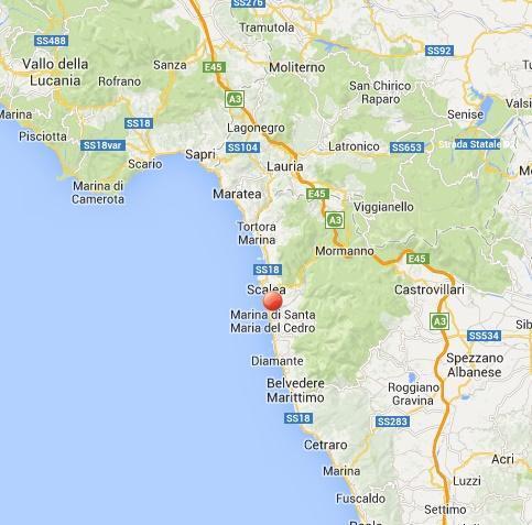 Terremoto Calabria oggi: scossa a Scalea in provincia di Cosenza
