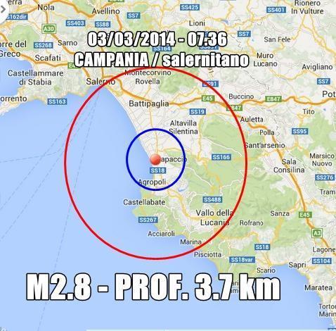 Terremoto Campania Oggi : scossa ben avvertita a Paestum, Agropoli, Battipaglia (Salerno)