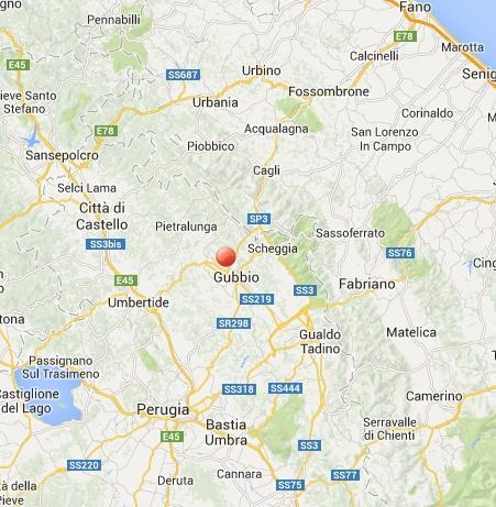 Terremoto Gubbio oggi: due scosse avvertite in Umbria