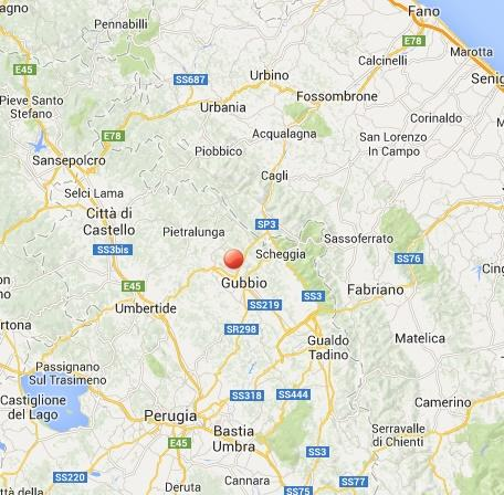 Terremoto Gubbio oggi: scossa avvertita in Umbria