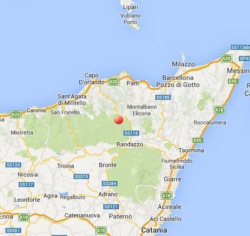 Terremoto Sicilia oggi 8 Marzo: scossa nella zona di Messina, Catania (vicino Randazzo)