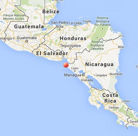 Violento terremoto fra Nicaragua, El Salvador, nella zona di Chinandega