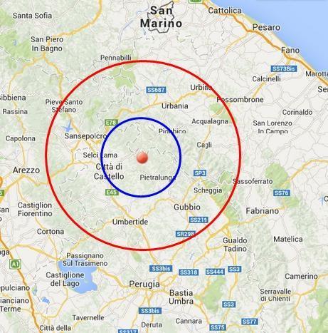 Terremoto in tempo reale INGV : scosse di oggi 24 Marzo 2014 in diretta