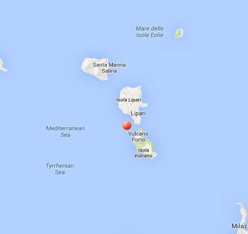 Terremoto profondo fra Isole Lipari e Vulcano - oggi 7 Marzo 2014
