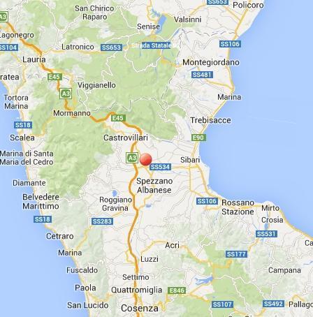 Terremoto nella Piana di Sibari, scossa fra Castrovillari e Spezzano Albanese