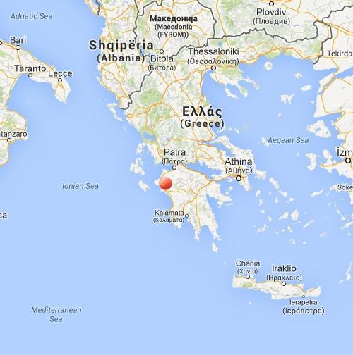 Terremoto magnitudo 4.1 nella Grecia meridionale - ore 11.43