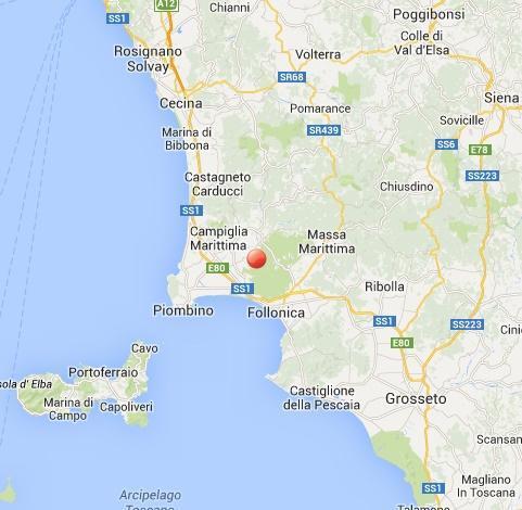 Terremoto in Toscana: scossa insolita fra Campiglia e Massa Marittima