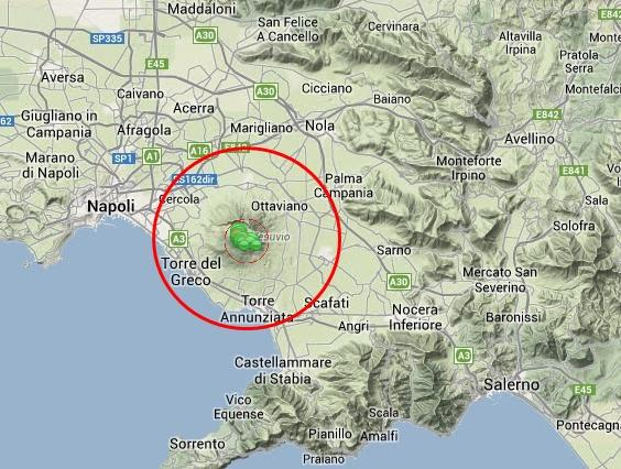 Vesuvio napoli tre scosse di terremoto registrate e for Ingv lista terremoti di oggi
