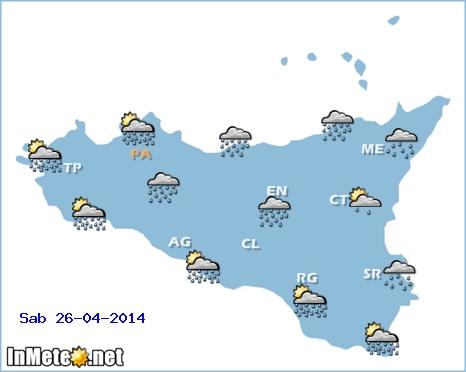 Previsioni meteo Sicilia: forti piogge e temporali in arrivo