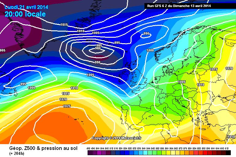 Pasqua e Terza decade di Aprile instabili e più fredde?