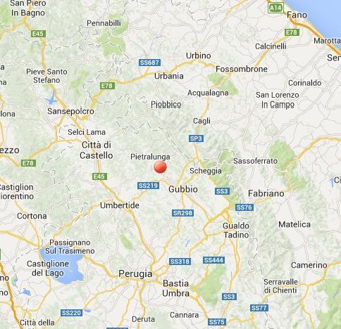 Doppio terremoto oggi in Umbria: scosse fra Città di Castello e Gubbio (Perugia)
