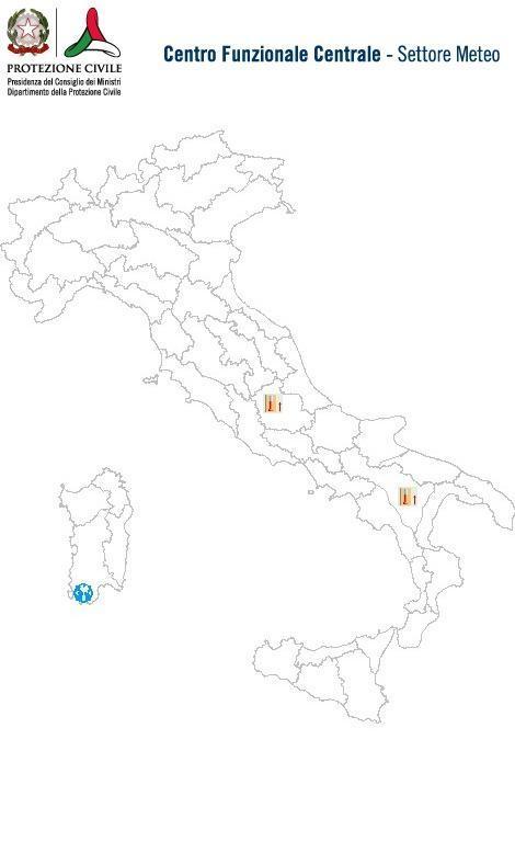 Previsioni meteo 6 Maggio 2014 Italia: Bollettino della Protezione Civile. Fonte: www.protezionecivile.gov.it