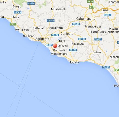 Terremoto sicilia oggi scossa fra agrigento e palma di for Meteo palma di montechiaro