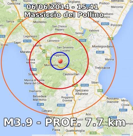 Terremoto oggi Basilicata, Calabria, Campania: scossa nettamente avvertita fra Mormanno, Castrovillari