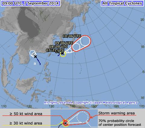 Tempesta tropicale minaccia il Giappone: news e aggiornamenti