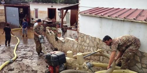 Alluvione Gargano Settembre 2014: a Peschici interviene l'esercito