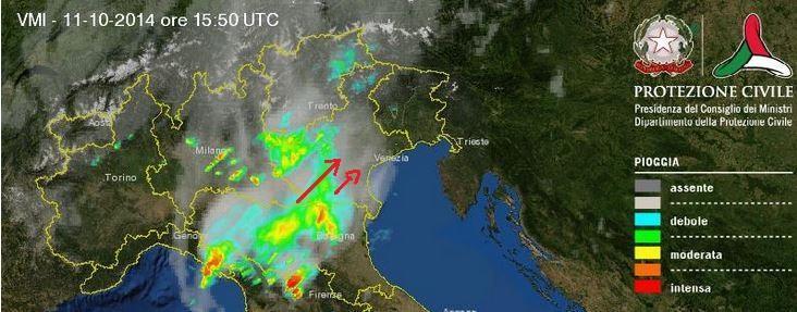 Intenso temporale sul Bolognese