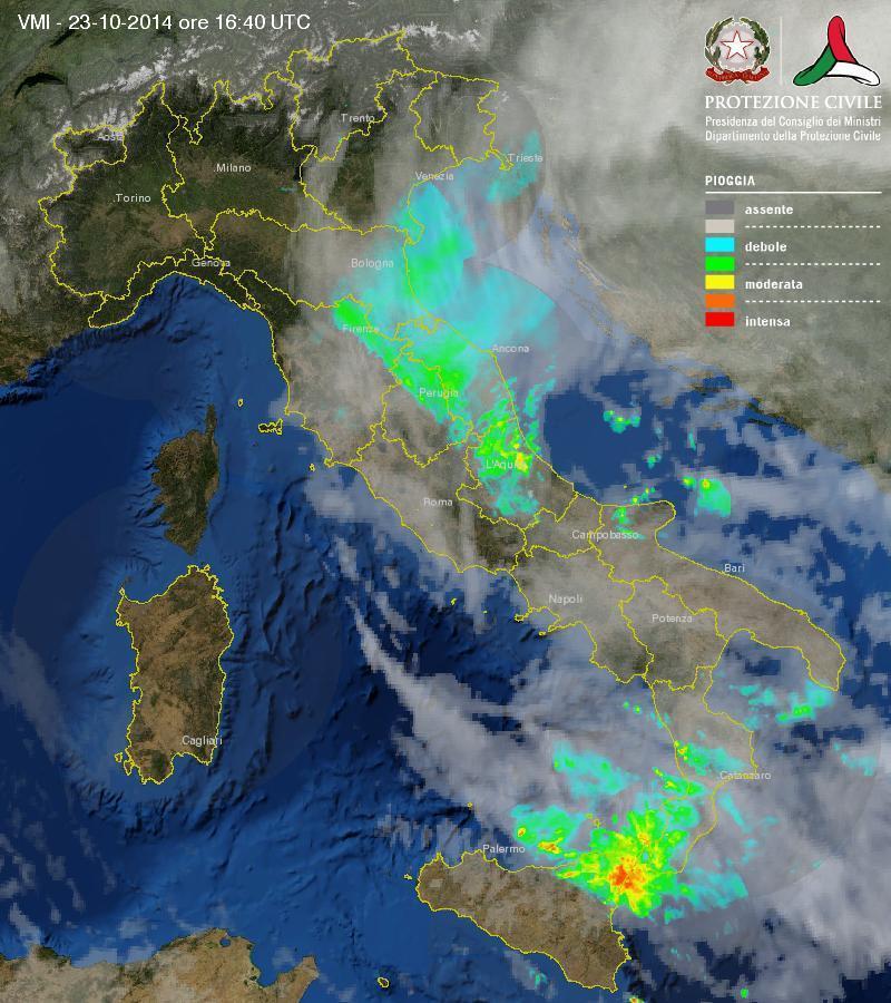 Maltempo tra Sicilia e Calabria: intensi temporali interessano lo Stretto di Messina
