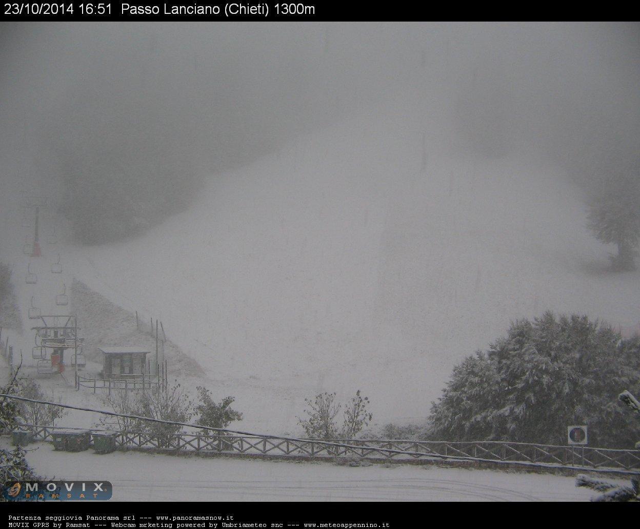 Nuove forti nevicati sull'Appennino. Passo Lanciano