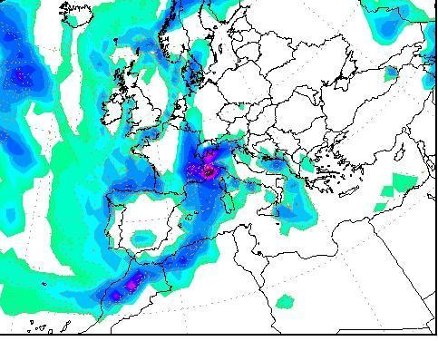Intensa perturbazione atlantica in arrivo: pericolo nubifragi, ecco le zone al momento più a rischio