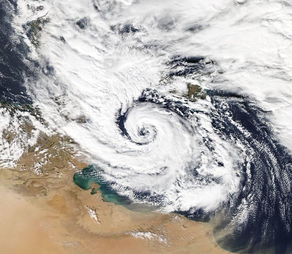 Intenso ciclone Mediterraneo