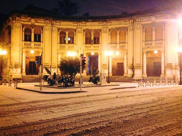 Neve e Freddo anche a Messina: per il Sud è una nevicata storica