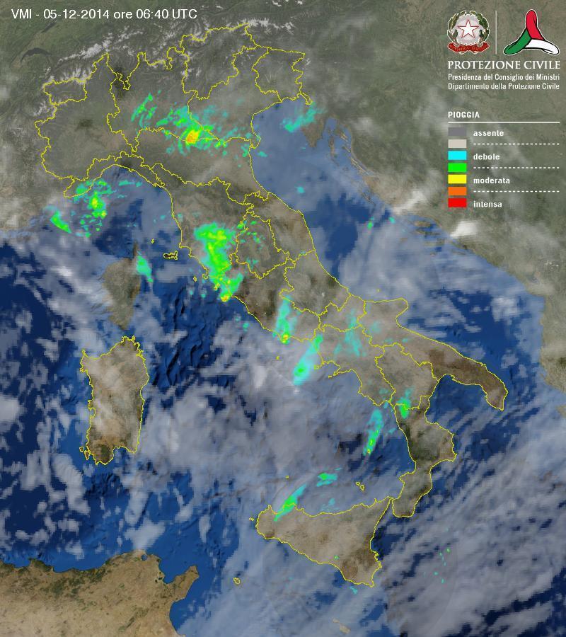 Situazione meteo in atto: rovesci a spasso per l'Italia, come evolverà nelle prossime ore?