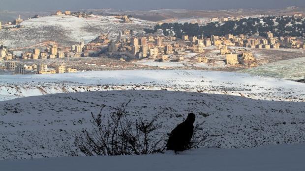 Ondata di freddo e neve in Medio Oriente