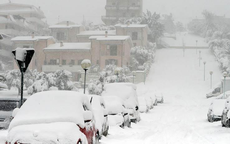 Irruzione artica: prevista neve fino in collina lungo le regioni adriatiche